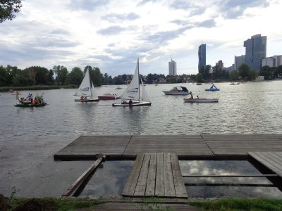 Bewegung auf der Alten Donau