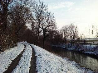 Winterspaziergang am Marchfeldkanal