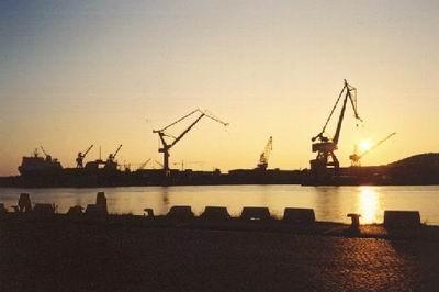 Abend im Hafen Göteborg