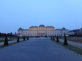 Oberes Belvedere am Abend
