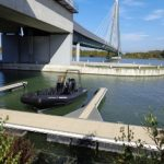 Schnellboot bei Donaumarina