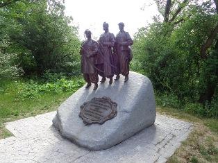 Drei ukrainische Kosaken