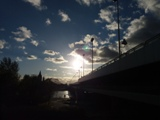Unwetter über der Reichsbrücke
