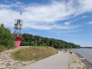 Radweg am Ende der Donauinsel