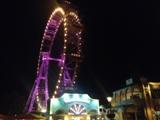 Riesenradplatz bei Nacht