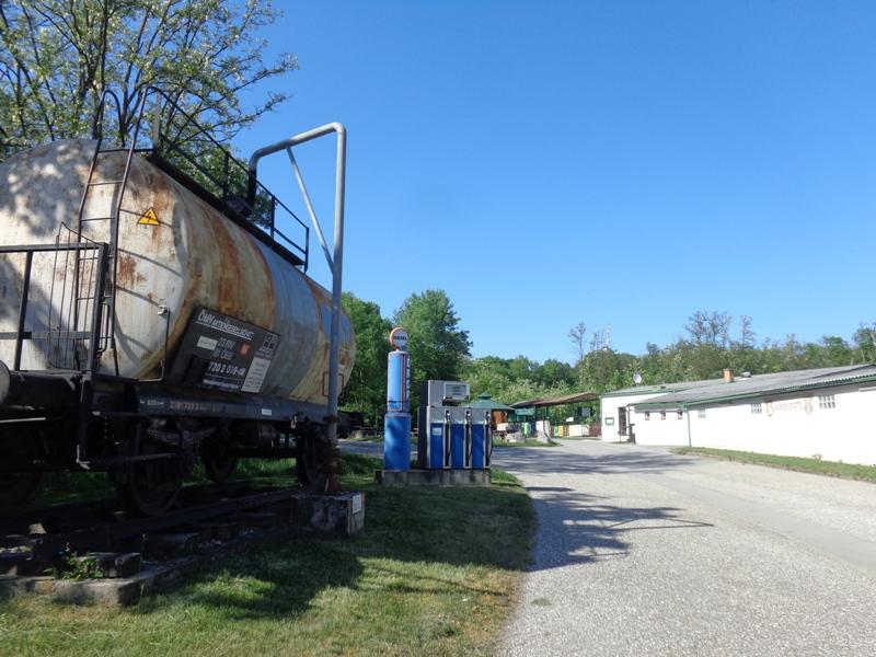 Rostiger Öltank