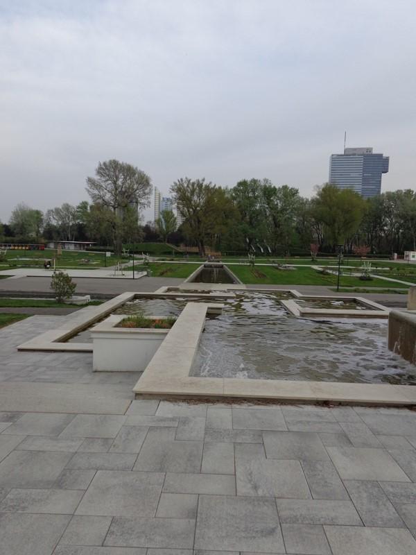 Brunnenanlage im Donaupark