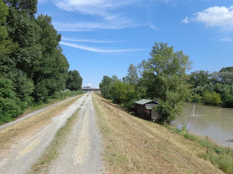 Radweg am Donaukanal