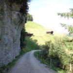 Steile Wand bei Juns