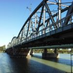 Bahnbrücke am Handelskai