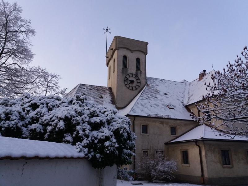 Erster Schnee im Marchfeld