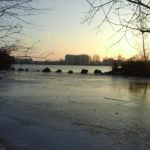 Eis am Donauufer
