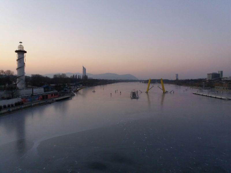 Eislaufen an der Copa Cagrana