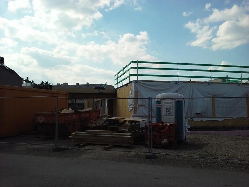 Baustelle Kindergarten Feldgasse