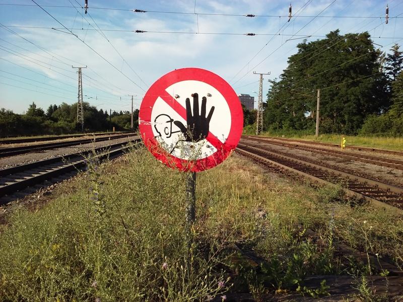 Ende des Bahnsteigs