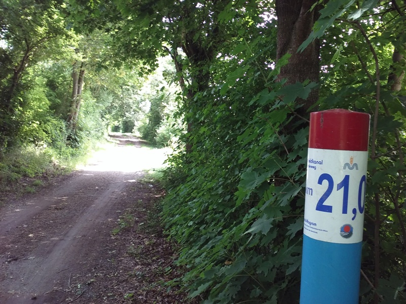 Kilometer 21 am Radweg