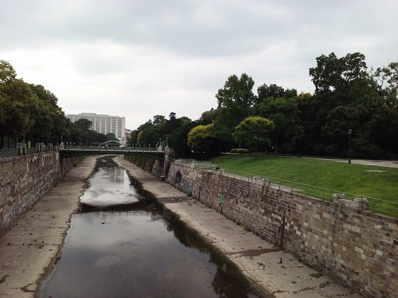 Wien Fluß am Stadtpark