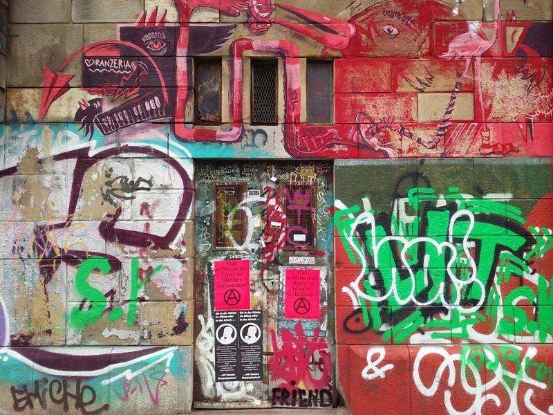 Graffiti am Donaukanal