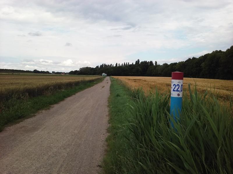 Marchfeldkanalradweg Kilometer 22