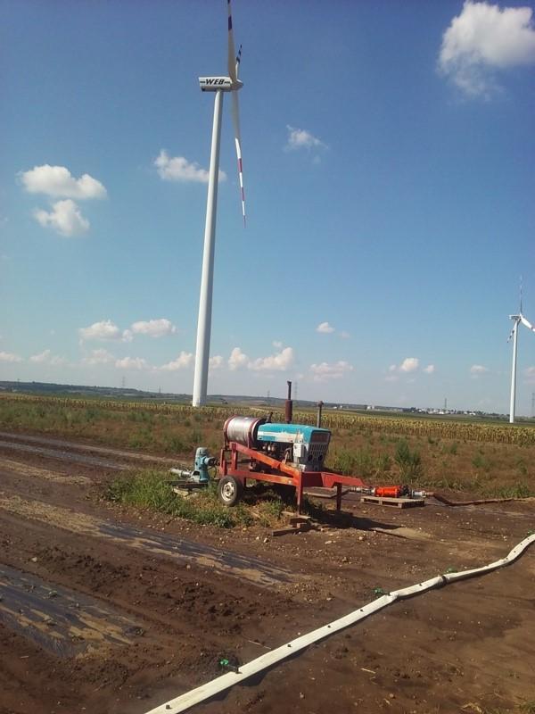 Feldbewässerung bei Bockfließ