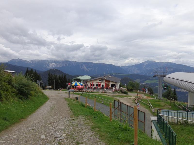 Liechtensteinhaus bei Schlechtwetter