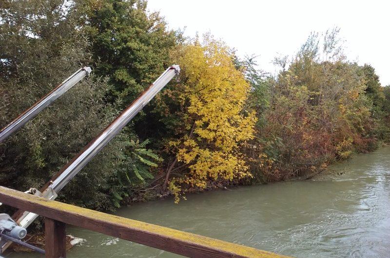 Herbst am Wasserkraftwerk