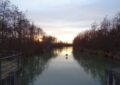 Winterabend am Marchfeldkanal