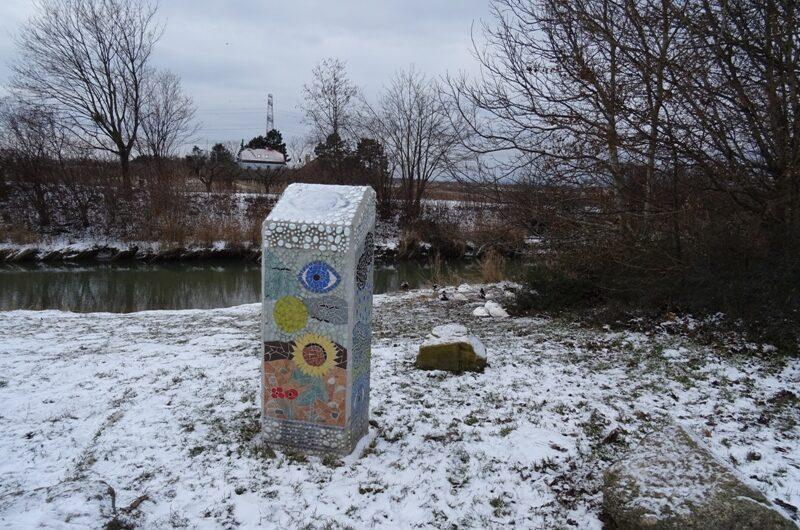 Schneespaziergang am Marchfeldkanal