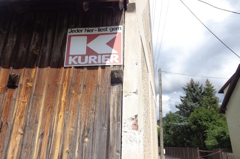 Alte Kurier Werbung in Berndorf