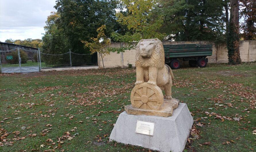 Löwe mit Gerichtsrad